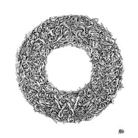 Vegetal circle Black and white