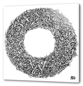 Vegetal circle Black and white