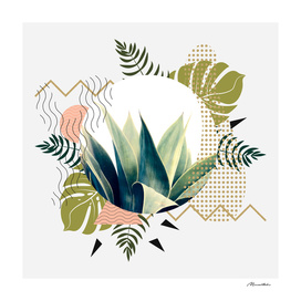 Abstract geometrical and botanical shapes I