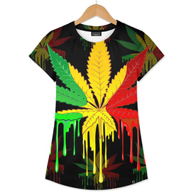 marijuana cannabis rainbow love green yellow red black