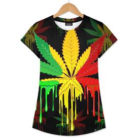 marijuana cannabis rainbow love green yellow red black