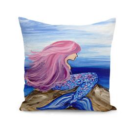 Mermaid sea beach beauty blue sky