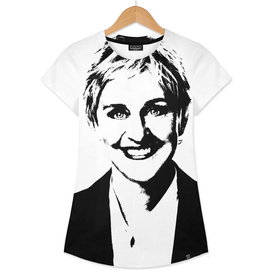 Ellen DeGeneres Stencil
