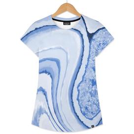 Blue Crystal Watercolor Effect Design