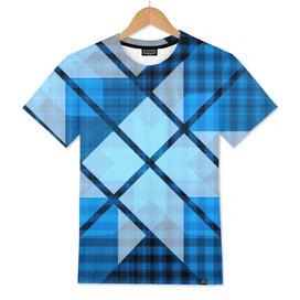 Abstract Geometric Blue Plaid Design