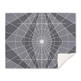 Monochrome Minimalist Geometric Lines Design