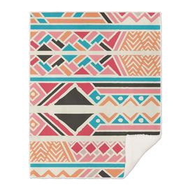 Tribal ethnic geometric pattern 037