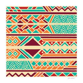 Tribal ethnic geometric pattern 038
