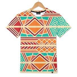Tribal ethnic geometric pattern 027