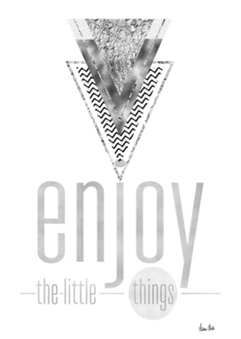 GRAPHIC ART Enjoy the little things   silver