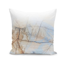 Latte Marble - Ombre blue and Ivory
