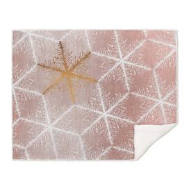 Elegant Geometric Gold Snowflakes Holiday Pattern