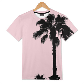 Palm Trees On Pink