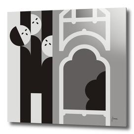 Art nouveau figures and buildings 1.