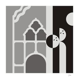 Art nouveau figures and buildings 3.