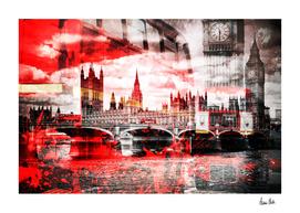 City-Art LONDON Red Bus Composing