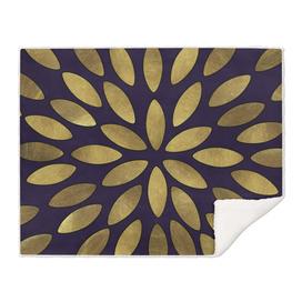 Classic Golden Flower Leaves Pattern