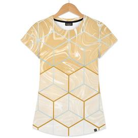 Geometric Effect Caramel Marble Design