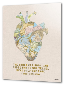 Travelers Heart + Quote