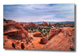 Beautiful view from above at Kodachrome Basin State Park