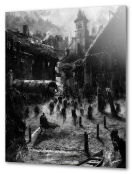 Hp Lovecraft's Innsmouth (black and white version)
