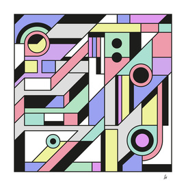 De Stijl Abstract Geometric Artwork 2