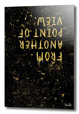TEXT ART Gold From another point of view
