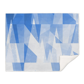 Abstract Blue Geometric Mountains Design