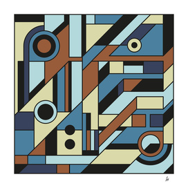 De Stijl Abstract Geometric Artwork 3