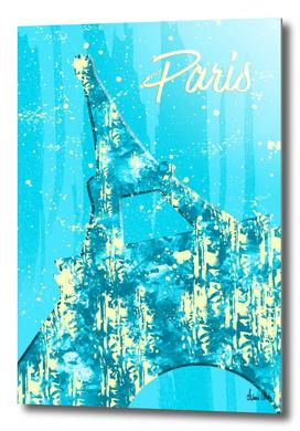 Graphic Style PARIS Eiffel Tower | cyan