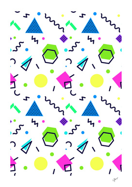 Mempfis trendy pattern on white background. 80's style