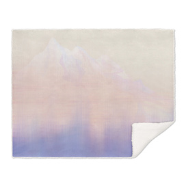Mountains In Ombre Blush Design