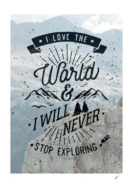 Quote Poster - 25 - Love the world