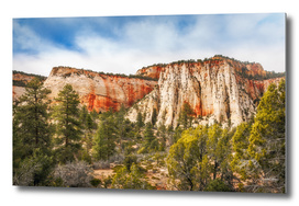 Mountain Range in Zion National Park