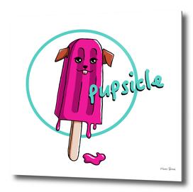 Pupsicle Pun Illustration