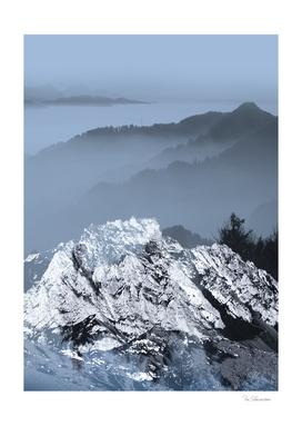 FOGGY BLUE MOUNTAINS v2