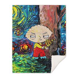 Family Guy Art Stewie Cartoon Starry Night vincent van gogh