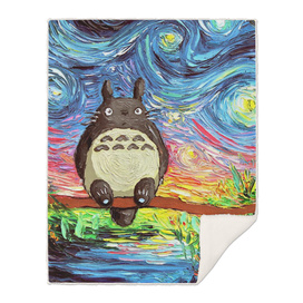 Painting Totoro Stary night Vincent Van Gogh