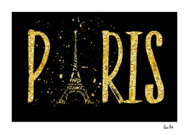 PARIS Typography | gold splashes