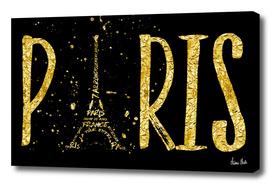 PARIS Typography | gold splashes