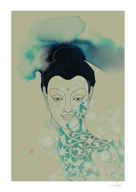 Blue Gautama Buddha