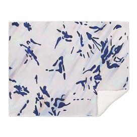 Blue Splatter Painting Pattern