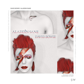 """""""RE""""imagining record covers - ALADDIN SANE from DAVID BOWIE"""