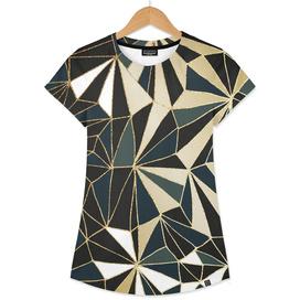 New Art Deco Geometry - Emerald Green & Gold