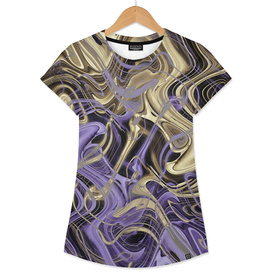 Gold & Ultra Violet Liquid Marble Love