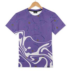 Violet Marbled Waves Swirled Effect Design