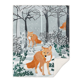 Fox Snow Walk