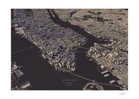 Manhattan city map