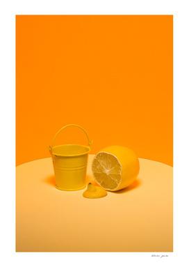Bucket with lemon