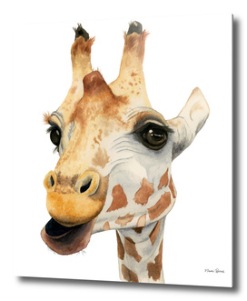 Chew - Giraffe Watercolor Painting